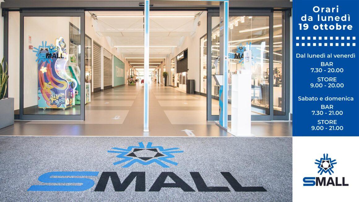 Nuovi orari di apertura galleria commerciale Small